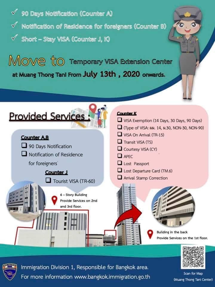 Temporary Visa Extension Center Thailand