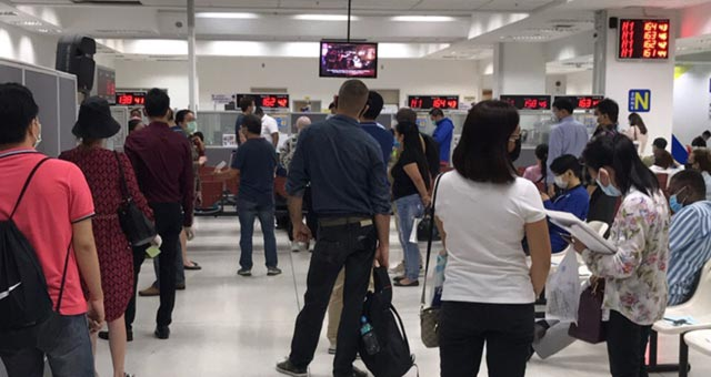 Thai Immigration Queue