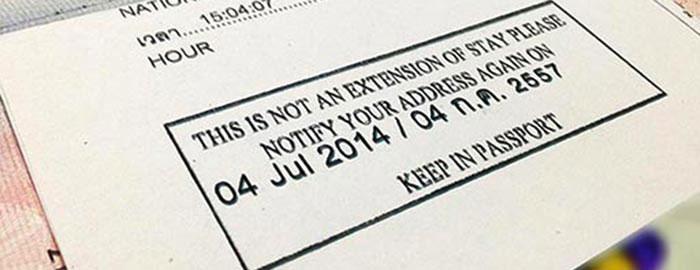 Thai Visa 90-day Reporting