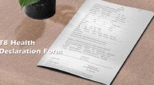 T8 Health Declaration Form